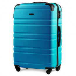 608, Large travel suitcase Wings L, Cyan