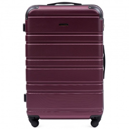 608, Large travel suitcase Wings L, Dark purple