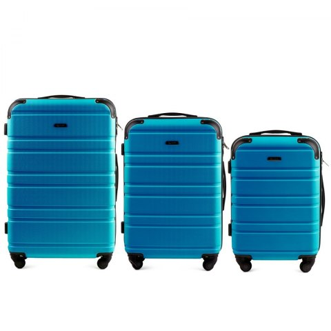 608, Luggage 3 sets (L,M,S) Wings, Cyan