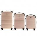 608, Luggage 3 sets (L,M,S) Wings, Dirty white