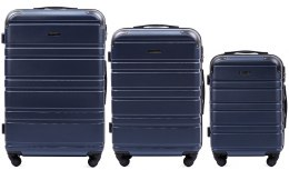 608, Luggage 3 sets (L,M,S) Wings, Dark blue