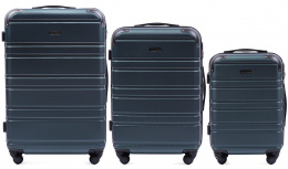 608, Luggage 3 sets (L,M,S) Wings, Dark green