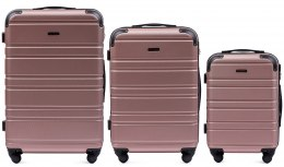 608, Luggage 3 sets (L,M,S) Wings, Rose gold