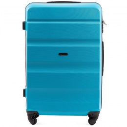 AT01, Large travel suitcase Wings L, Cyan