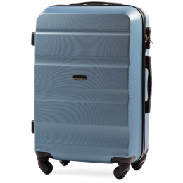 AT01, Middle size suitcase Wings M, Silver blue