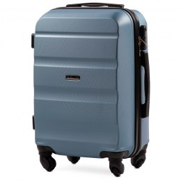 AT01, Cabin suitcase Wings S, Silver blue