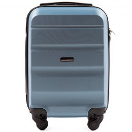 AT01, Small cabin suitcase Wings XS, Silver blue