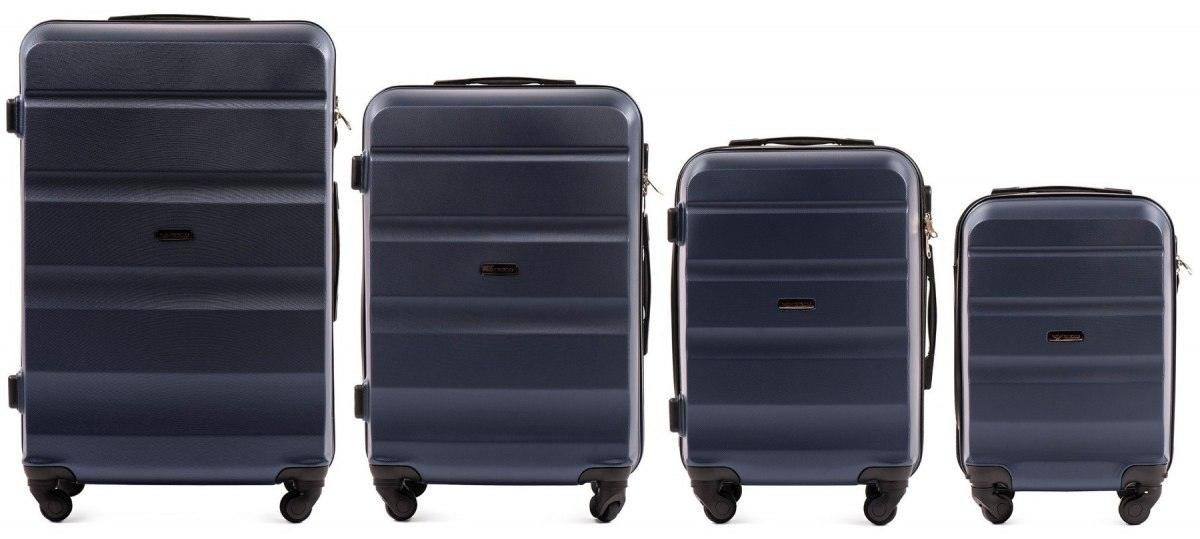 AT01, Luggage 4 sets (L,M,S,XS) Wings, Dark blue