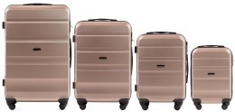AT01, Luggage 4 sets (L,M,S,XS) Wings, Champagne