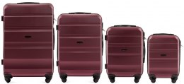 AT01, Luggage 4 sets (L,M,S,XS) Wings, Burgundy