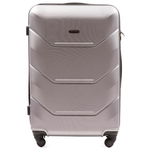 147, Large travel suitcase Wings L, Silver