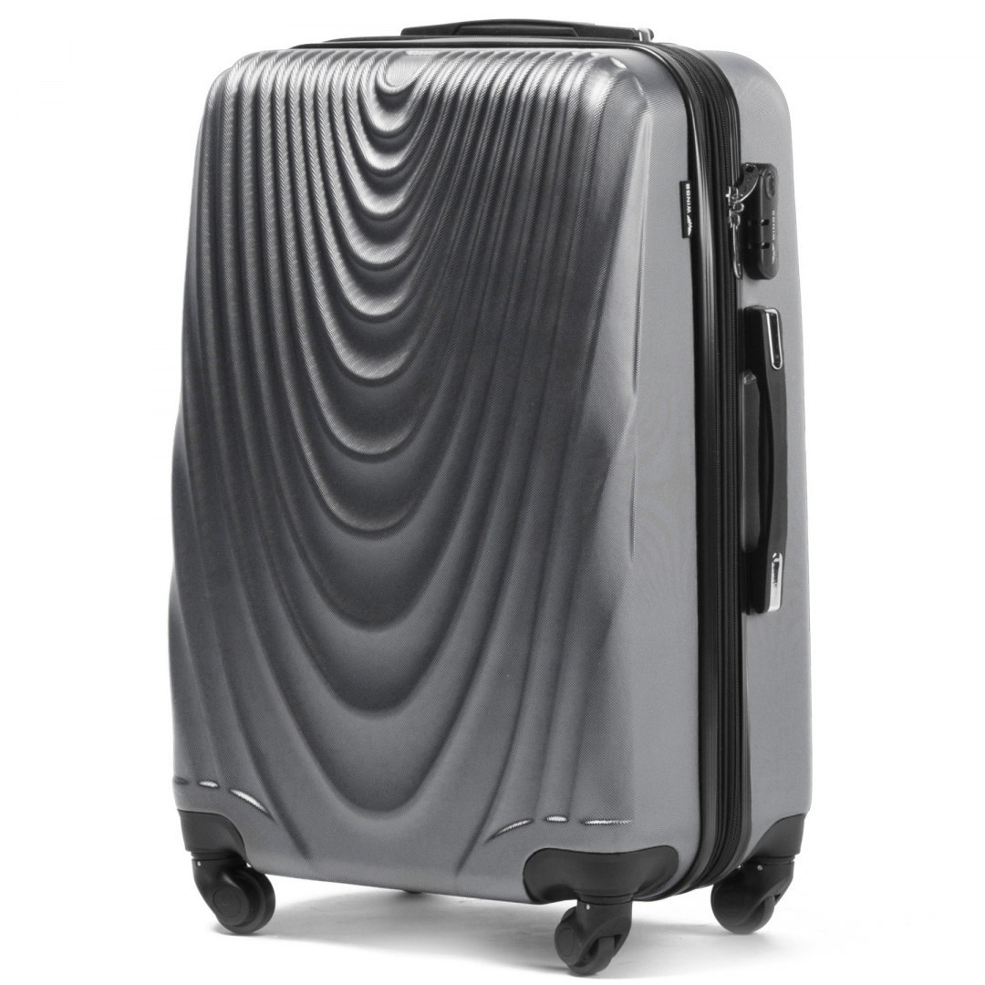 304, Large travel suitcase Wings L, Silver