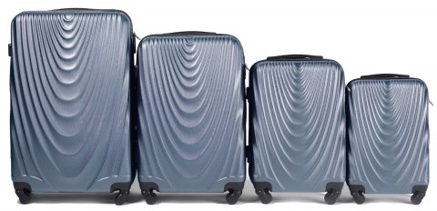 304, Luggage 4 sets (L,M,S,XS) Wings, Silver blue