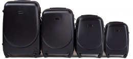 K310, Luggage 4 sets (L,M,S,XS) Wings, Black