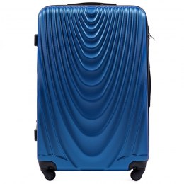 304, Large travel suitcase Wings L, Middle blue