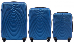304, Luggage 3 sets (L,M,S) Wings, Middle blue
