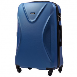 518, Large travel suitcase Wings L, Middle blue