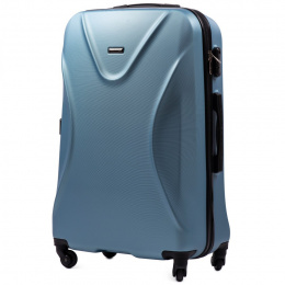 518, Large travel suitcase Wings L, Silver blue