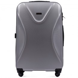518, Large travel suitcase Wings L, Silver