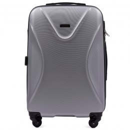 518, Middle size suitcase Wings M, Silver