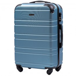 608, Middle size suitcase Wings M, Silver blue