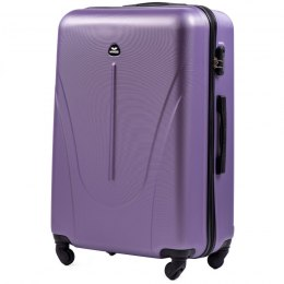 888, Large travel suitcase Wings L, Silver purple