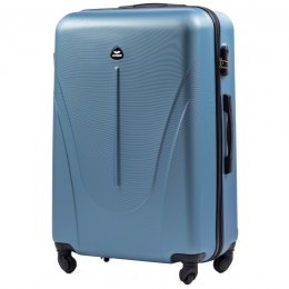 888, Large travel suitcase Wings L, SIlver blue