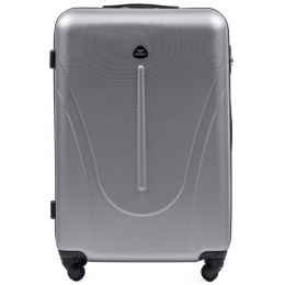 888 Large travel suitcase Wings L, Silver