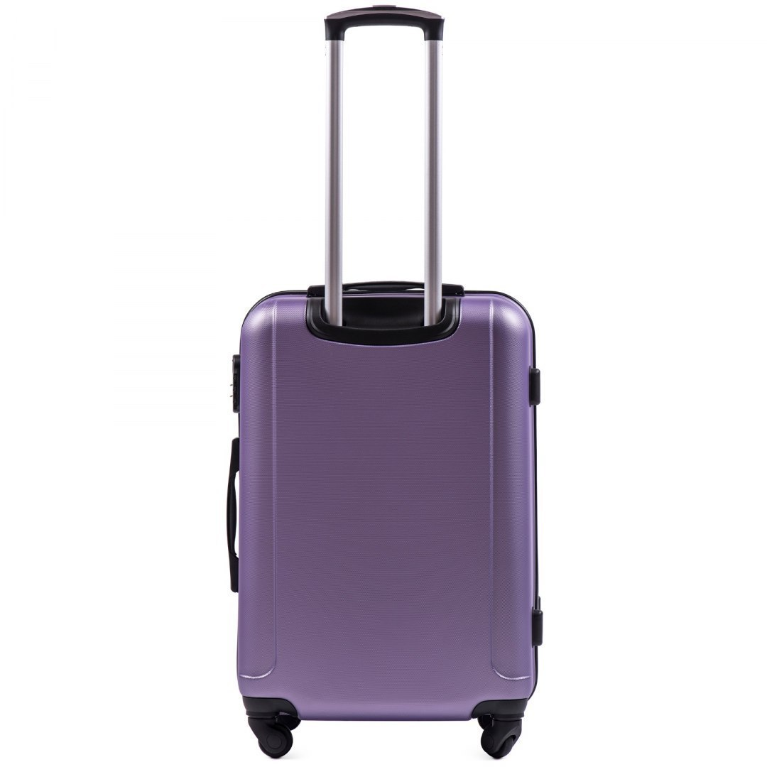 888, Middle size suitcase Wings M, Silver purple