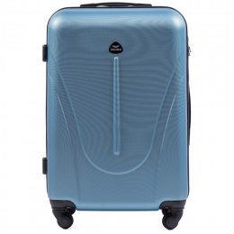 888, Middle size suitcase Wings M, Silver blue