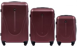 888, Luggage 3 sets (L,M,S) Wings, Dark red