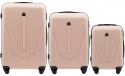 888, Luggage 3 sets (L,M,S) Wings, Dirty white