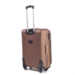 1706(4), Large soft travel suitcase 4 wheels Wings L, Double yellow