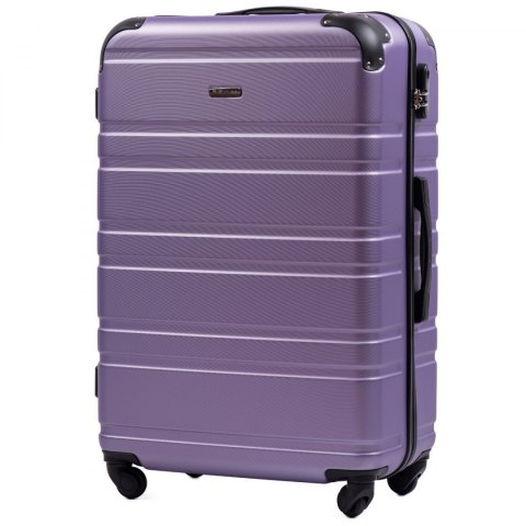 608, Large travel suitcase Wings L, Silver purple