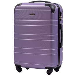 608, Middle size suitcase Wings M, Silver purple