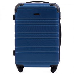 608, Middle size suitcase Wings M, Black