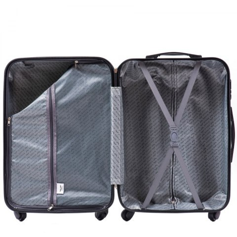 608, Cabin suitcase Wings S, Silver blue