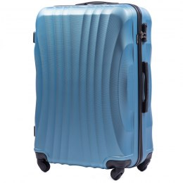 159, Large travel suitcase Wings L, Silver blue