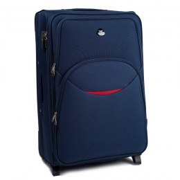 1708(2), Large soft travel suitcase 2 wheels Wings L, Blue