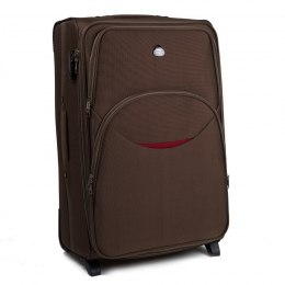 1708(2), Large soft travel suitcase 2 wheels Wings L, Coffee