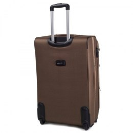1708(2), Large soft travel suitcase 2 wheels Wings L, Double yellow