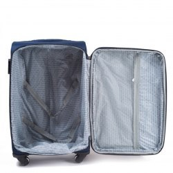 1708(2), Large soft travel suitcase 2 wheels Wings L, Double red