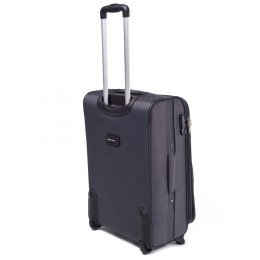 1708(2), Large soft travel suitcase 2 wheels Wings L, Dark grey