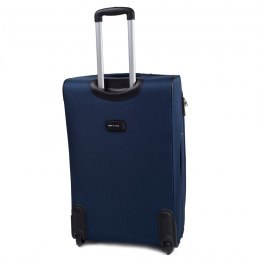 1708(2), Middle soft travel suitcase 2 wheels Wings M, Blue