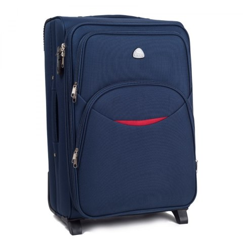 1708(2), Cabin soft travel suitcase 2 wheels Wings S, Blue