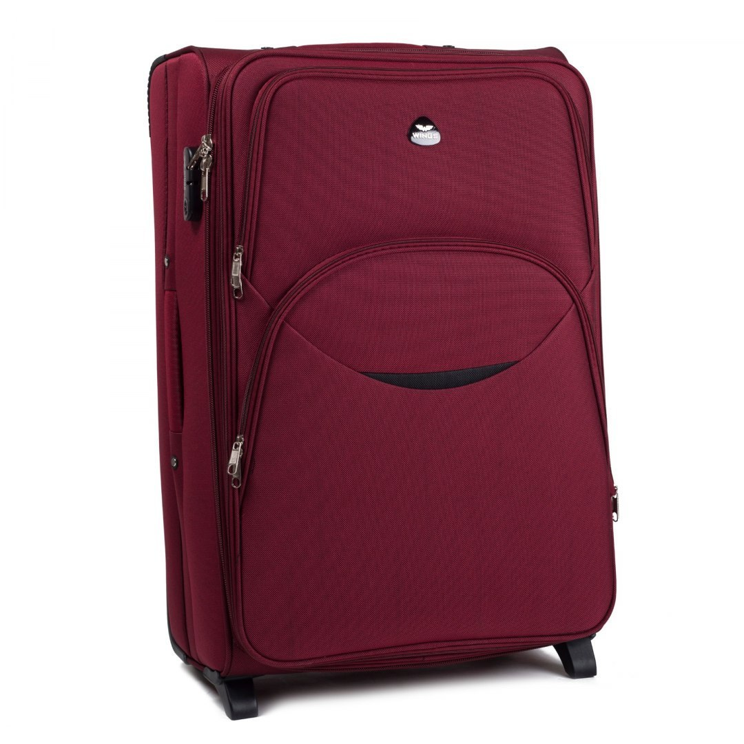 1708(2), Cabin soft travel suitcase 2 wheels Wings S, Double red
