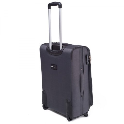 1708(2), Cabin soft travel suitcase 2 wheels Wings S, Dark grey