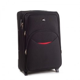 1708(2), Cabin soft travel suitcase 2 wheels Wings S, Black