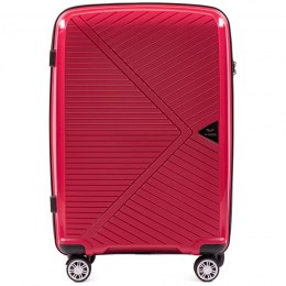 PP06, Middle size suitcase Wings M, Red - Polipropylene