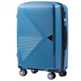 PP06, Middle size suitcase Wings M, Cyan - Polipropylene